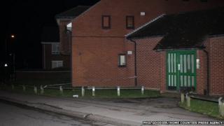 Police at stabbing scene
