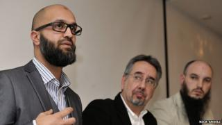 Qureshi, Rees and Bullivant at Cage Press Conference