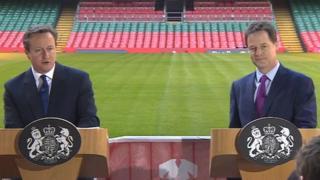 David Cameron a Nick Clegg