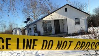 One of the shooting scene near Tyrone, Missouri