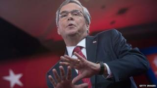 Jeb Bush speaks at the 2015 CPAC conference.