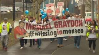 Hundreds march through Bristol to raise awareness of missing boxing promoter Michael Graydon