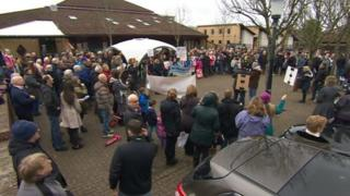 Marchwood protest