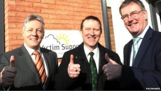 Peter Robinson, Nigel Lutton and Mike Nesbitt