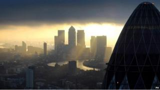 Sunrise in the City of London