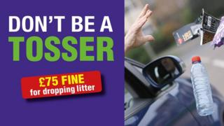 Don't Be a Tosser poster