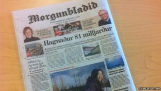 The back to front edition of the newspaper
