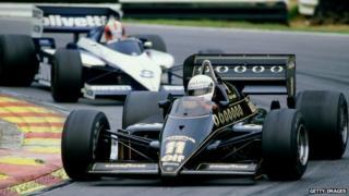 Lotus 97T driven by Elio de Angelis