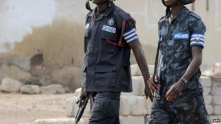 Ghanaian police on election duty, 2009