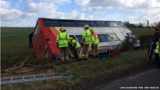 The bus in the ditch