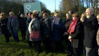 Protesters outside Spire Parkway Hospital