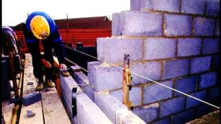 House wall under construction