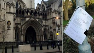 Royal Courts of Justice and Harlow legal documents