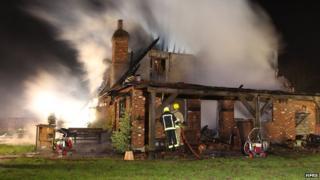 Chawton fire