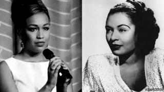 Rebecca Ferguson and Billie Holiday
