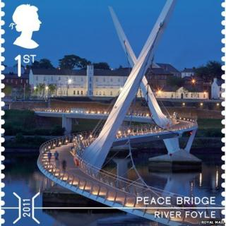 Peace Bridge stamp