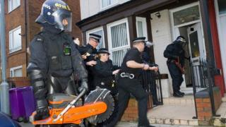 Police raids in Liverpool
