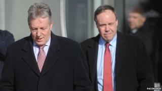 Peter Robinson and Nigel Dodds