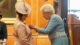 Heather Shepherd appointed at MBE by the Queen