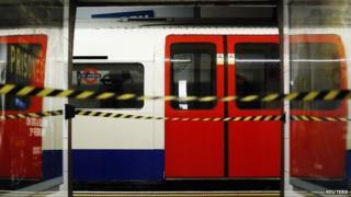 Underground train during strike