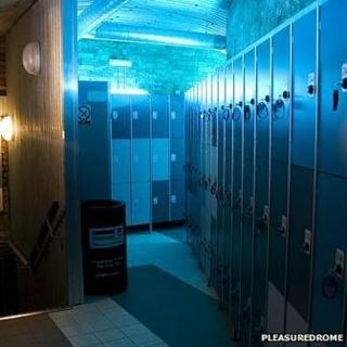 Changing rooms at the Pleasuredrome