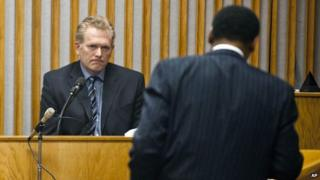 Randall Miller in court in May 2014