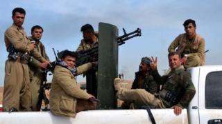 Iraqi Kurdish forces in Kirkuk