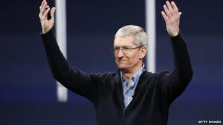 Tim Cook at Apple Watch event