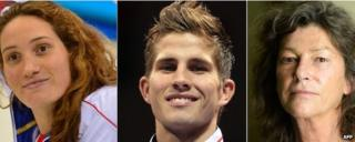 Camille Muffat, Alexis Vastine and Florence Arthaud