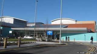 New entrance, Broadgreen Hospital