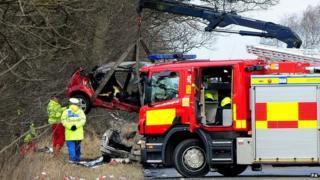 Scene of fatal crash in Nottinghamshire in 2009