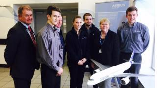 Baroness Randerson meets apprentices at Airbus