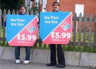 Pizzawomen in Market Harborough in 2010