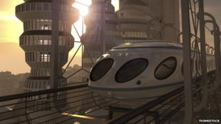 Futuristic city train