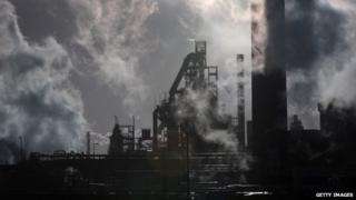 Tata owned steel works in Port Talbot