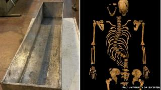 Ricahrd III coffin and remains