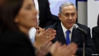 Israel's Prime Minister Benjamin Netanyahu attends a Likud party meeting in 2015