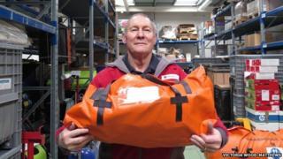 Red Cross warehouse manager John Cunningham