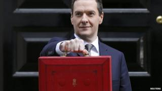 George Osborne with the 2015 Budget