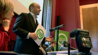 Patrick Harvie at conference backing independence