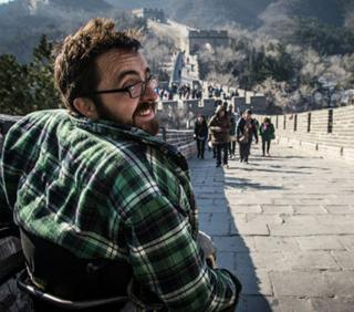 James on the Great Wall of China