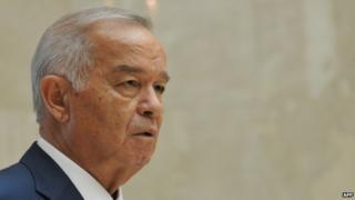 File picture of Uzbek president Karimov 13 September 2013