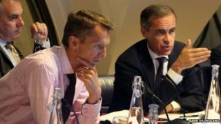 Andy Haldane, left, with Bank of England governor Mark Carney