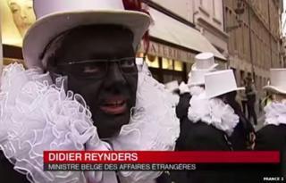 Screengrab of Didier Reynders talking to French TV