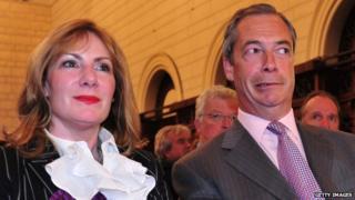 Janice Atkinson and Nigel Farage