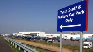 The Tesco centre at Avonmouth