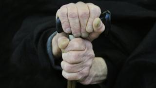 Older person's hands