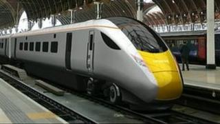 An artist's impression of the new high-speed trains