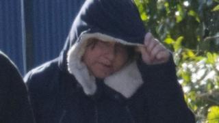 Kelly Richards outside Merthyr Crown Court