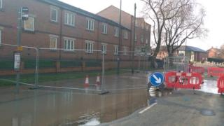 Chester Green burst water pipe